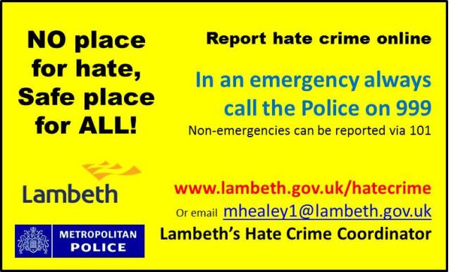 Hate Crime Reporting Card