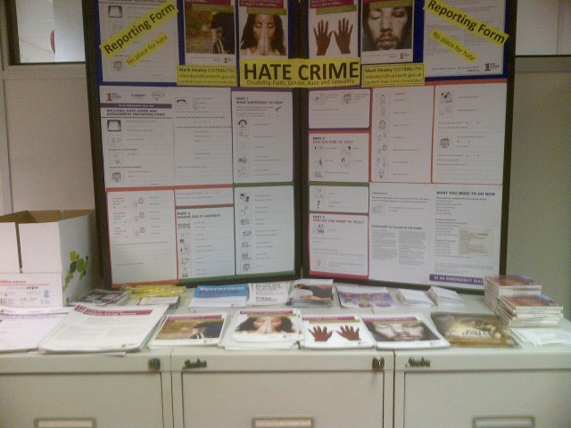 Lambeth Hate Crime Reporting Stall