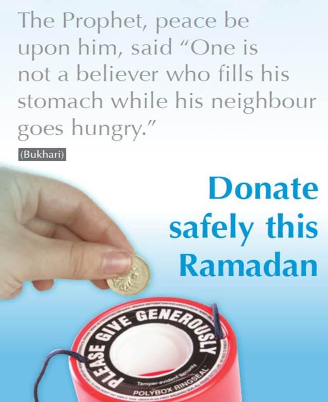 Ramadan donate safely