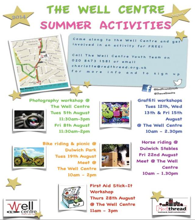 2014 Well Centre - Summer Activities