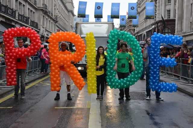 Pride in London Parade Saturday 27th June 2015