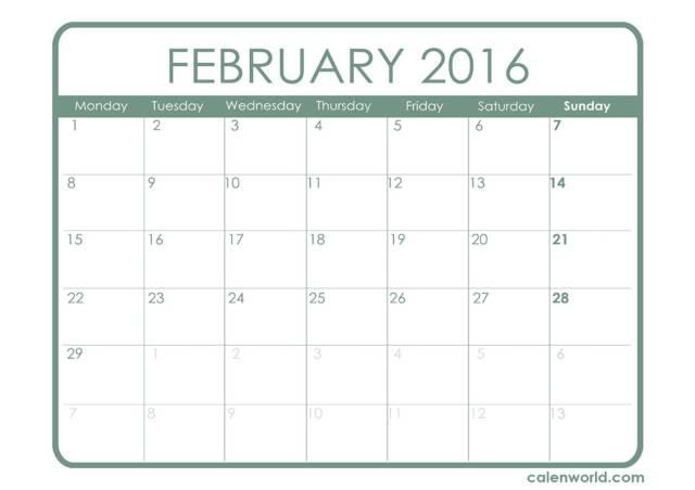 Febraury 2016