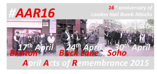 April Acts of Remembrance #AAR16