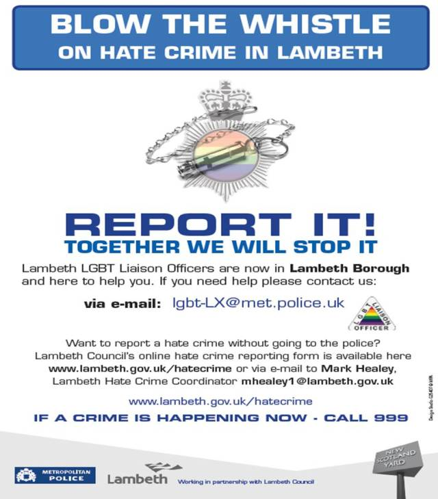 Blow the Whistle on LGBT Hate Crime