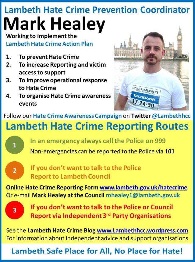 Lambeth New hatecrime Poster