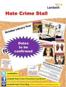 Lambeth Hate Crime Stall Tour dates to be confirmed