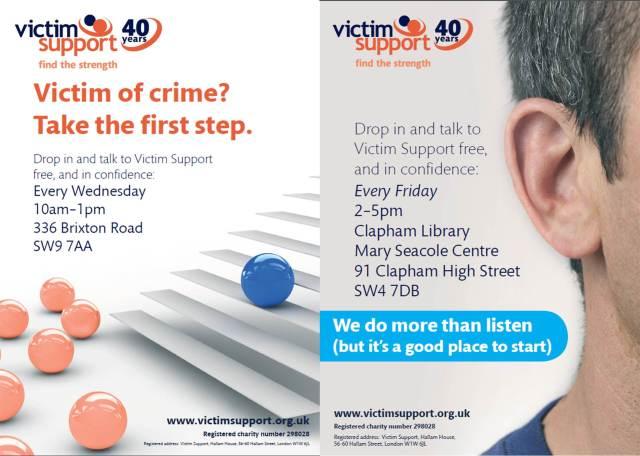 VSL - Brixton & Clapham Drop in posters