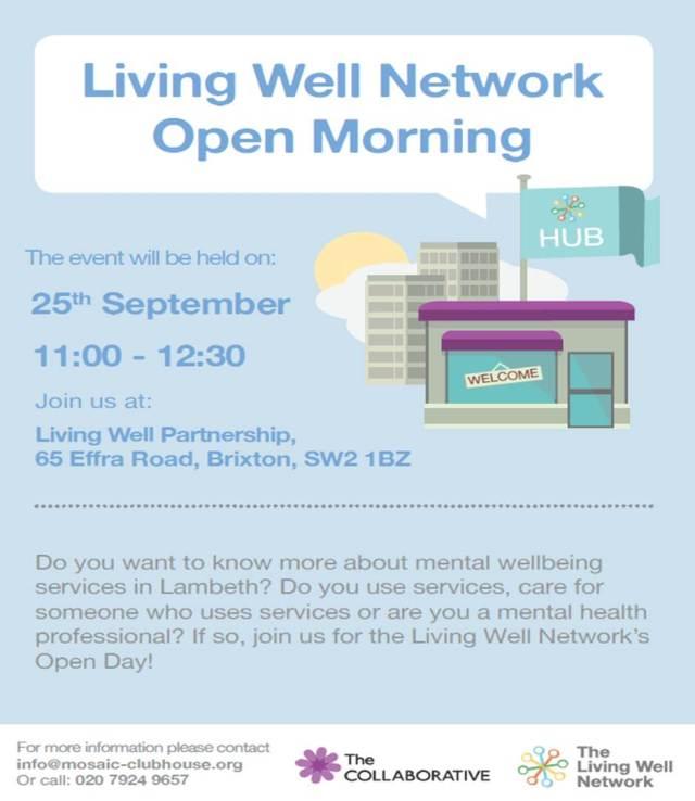 2014 09 25 Living Well Network Open Morning