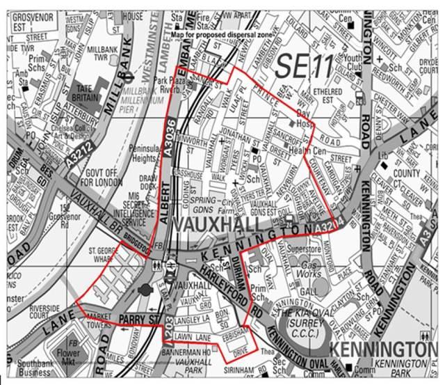 Vauxhall Dispersal Zone