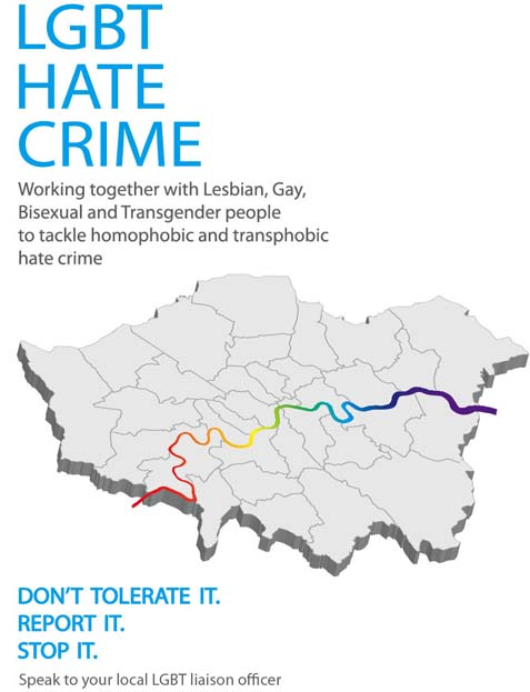 LGBT Hate Crime MPS Poster LGBT LO