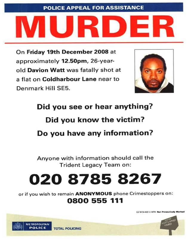Davion Watt Appeal Leaflet