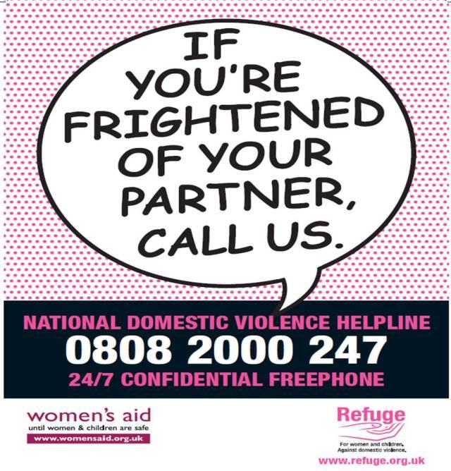Refuge National DV Helpline Poster