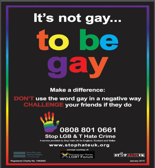 Stop LGBT Hate Crime Helpline Poster