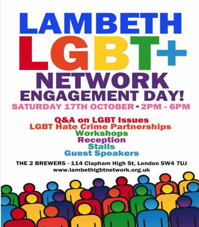 Lambeth LGBT Engagement event - Oct 2015